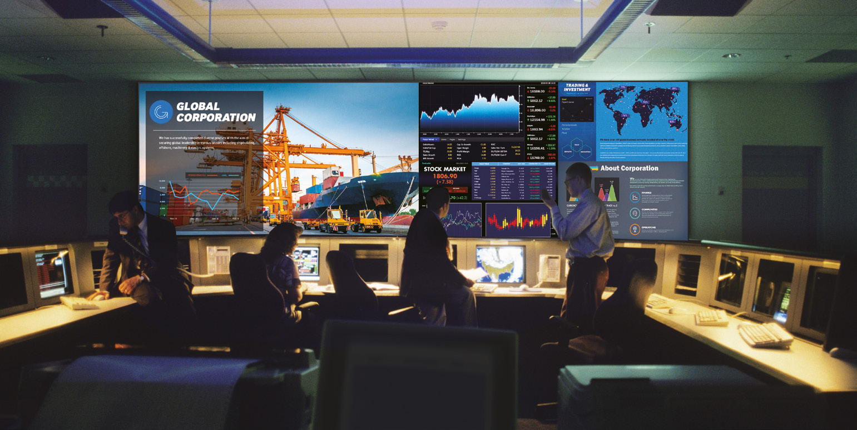 Soluciones de visualización en la sala de control de Samsung