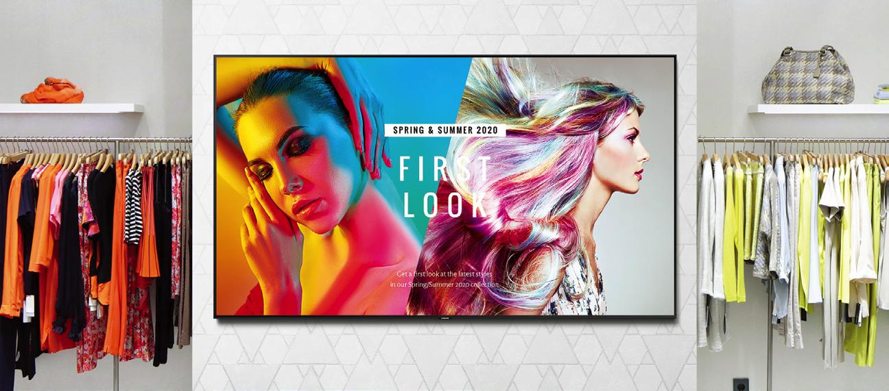 Transforma tu negocio con una televisión profesional de señalización digital de Samsung